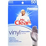 MR. CLEAN Latex Free VINYL Disposable Cleaning Gloves with BEADED CUFF (50 Co... by Mr. Clean