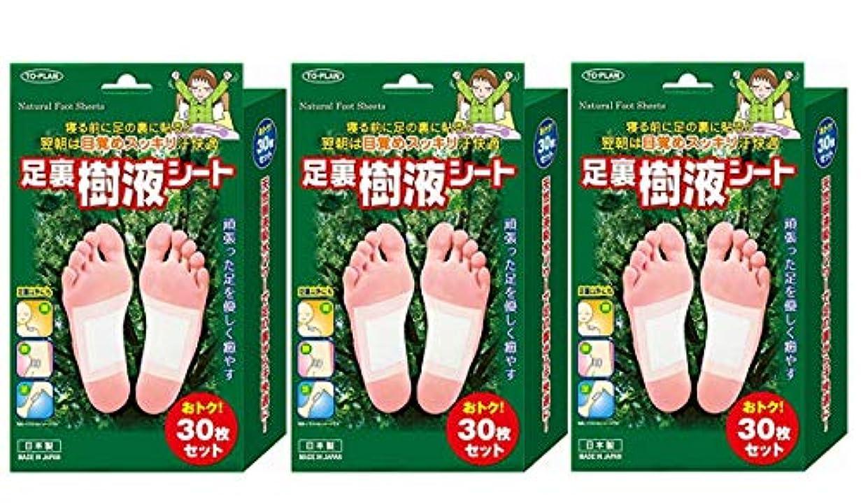 叱る麺災難TO-PLAN(トプラン) 足裏樹液シート 30枚入×3箱セット