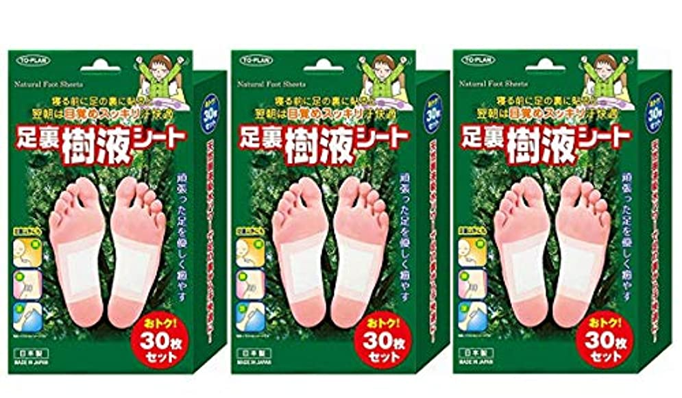 花嫁欠員乱雑なTO-PLAN(トプラン) 足裏樹液シート 30枚入×3箱セット