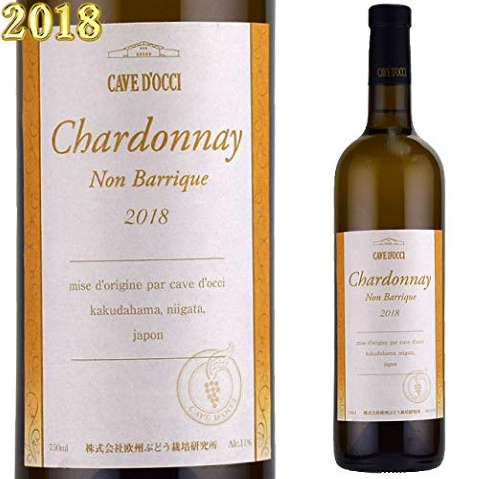 の前で違法内陸カーブドッチ シャルドネ ノンバリック(樽熟成無しシャルドネ) 2018 750ml白 日本ワイン