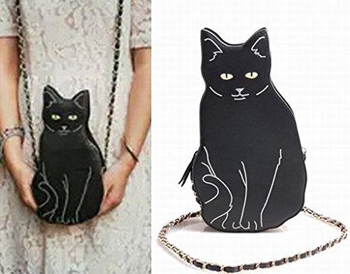 黒猫 ねこ 猫 パーティー クラッチ バック ショルダー バック ≪ハロウィン 魔女仮装 キッズ~大人まで [並行輸入品]