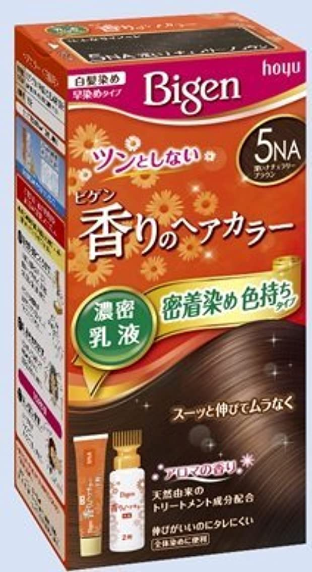 コテージ確保するご覧くださいビゲン 香りのヘアカラー 乳液 5NA 深いナチュラリーブラウン × 10個セット