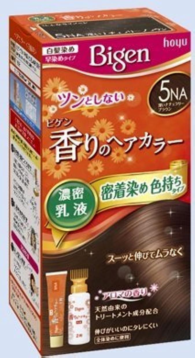 ジョグ屋内光沢のあるビゲン 香りのヘアカラー 乳液 5NA 深いナチュラリーブラウン × 5個セット