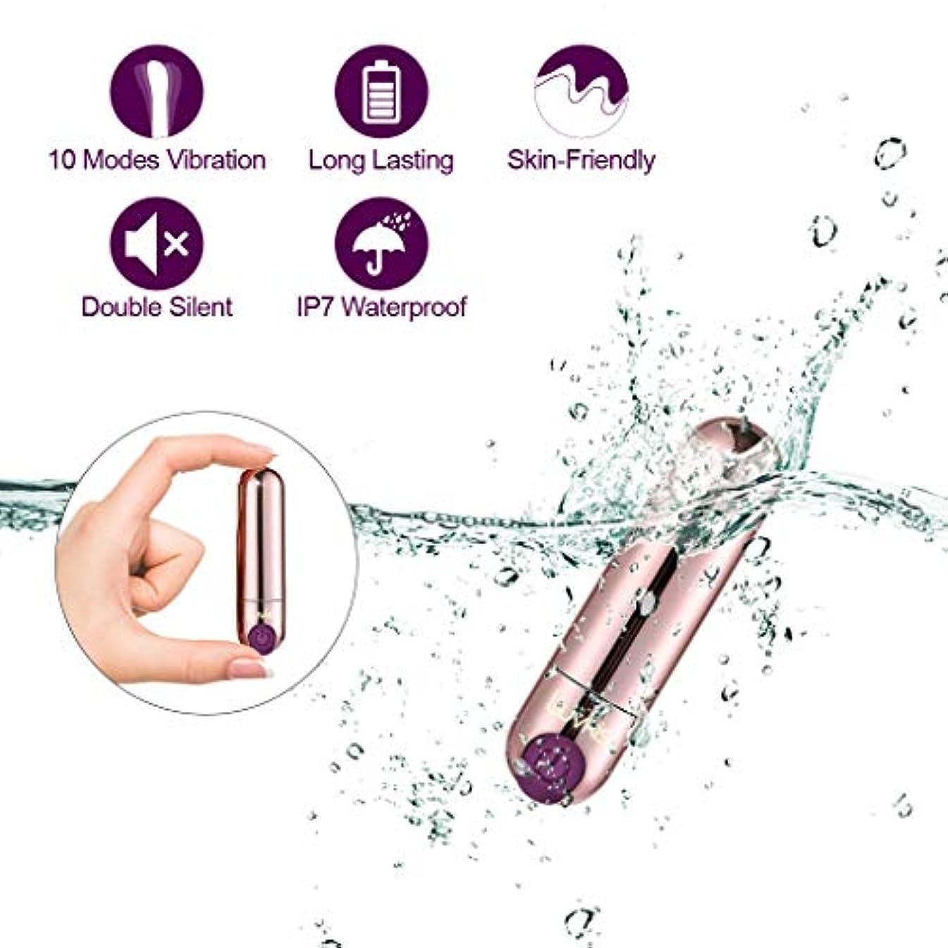 意気消沈した信者わかるLuvkis Mini ミニハンディマッサージャー 超静音10段階の振動 USB充電 防水設計 コードレス 小型 軽量 携帯便利 ゴールド