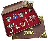 ゼルダの伝説 キーチェーンネックレス ペンダントキーセットコレクションギフトボックス