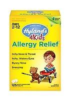 海外直送品Allergy Relief for Kids, 125 Tabs by Hylands