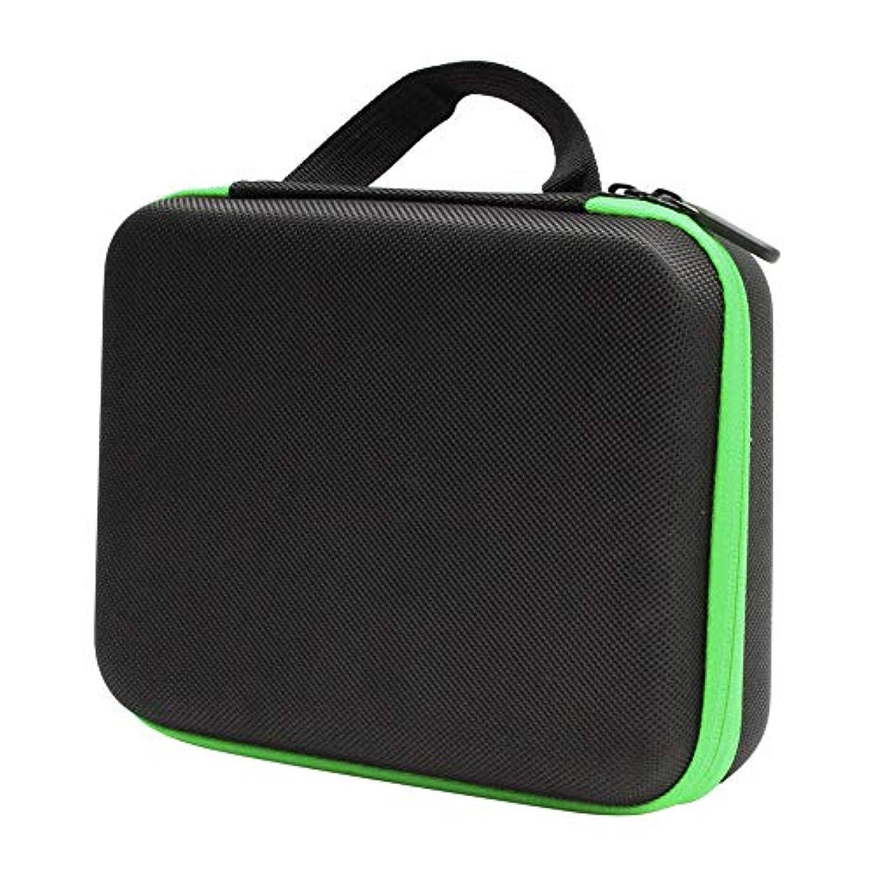 Hzjundasi 5ml/10ml/15ml 30本用 エッセンシャルオイル収納バッグ 携帯用 アロマオイルケース 精油収納 化粧ポーチ ハンドル付き 香水収納 大容量 耐震 EVA製