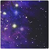 3dRose LLC 8 x 8 x 0.25 Inches Mouse Pad, Twinkling Stars in Outer Space Photography Astronaut Midnight Blue Shining Starry Night Sky (mp_112991_1) [並行輸入品]