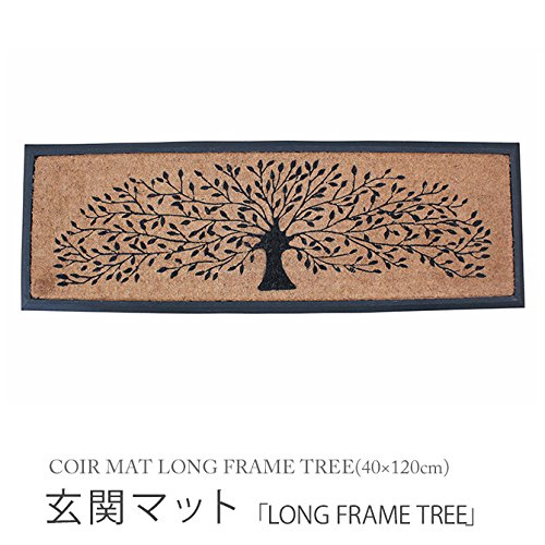 "[해외]현관 매트 ""LONG FRAME TREE""코 이어 매트 렉트 COIR MAT LONG FRAME TREE (40 × 120cm) FBGY4100/Front door mat ""LONG FRAME TREE"" Coyer mat rect COIR MAT LONG FRAME TREE (40 × 120 cm) FBGY 4100"