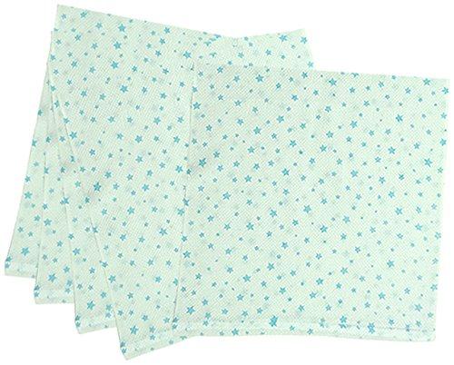 5枚組 ハーフサイズ ドビー織 星柄 仕立て布おむつ サックス TK712 日本製