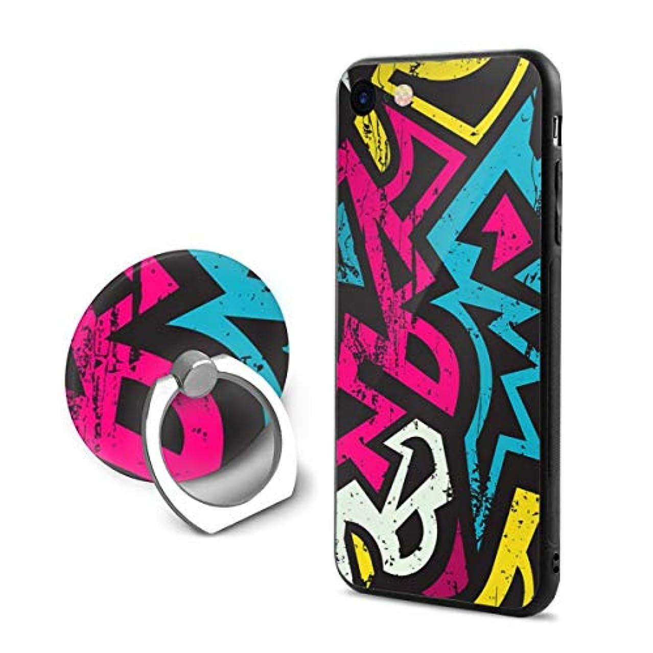 シガレット踏みつけ対人落書き 幾何学的なアート Iphone6Plus ケース/Iphone6s Plus ケース Cases リング付き ソフト TPU 軽量 薄型 擦り傷防止 取り出し易い 携帯カバー 落下防止 柔らかい オシャレ 耐衝撃 ケース カバー