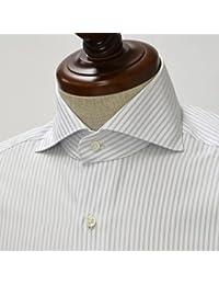 BARBA【バルバ】ドレスシャツI BRUNO 3118/08 cotton STRIPE BLUE(コットン ストライプ ブルー)