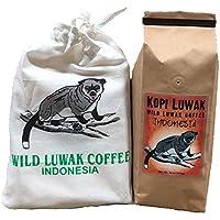 Volcanica Gourmet Coffee コピのluwakコーヒー、持続可能調達、16オンス ホールビーン
