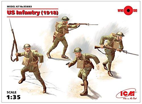 ICM 1/35 アメリカ陸軍 アメリカ歩兵 1918 プラモデル 35693の詳細を見る