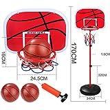 バスケットボールセット,バスケットボールスタンド 高さ調節可能 子供用 バスケットボールゴールフープ 玩具セット
