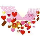 バレンタイン装飾 チョコハートハンガー L180cm  7240