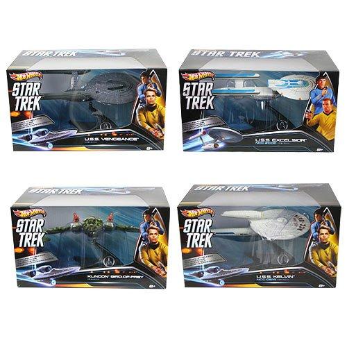 Star Trek スター・トレック イントゥ・ダークネス 及び 旧作シリーズ 登場 宇宙船4種セット Hot Wheels 956A 並行輸入品