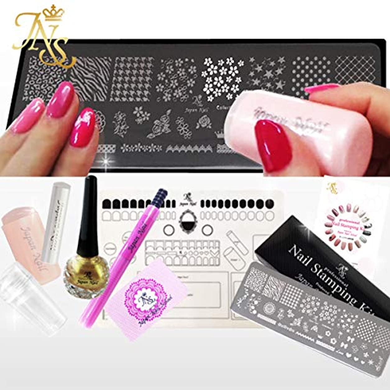 ピンクインペリアルホーススタンピングネイルキット コレクション10 (クリスマス)