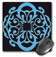 3drose LLC 8x 8x 0.25インチライトブルー可愛いデザインマウスパッド( MP _ 59272_ 1)