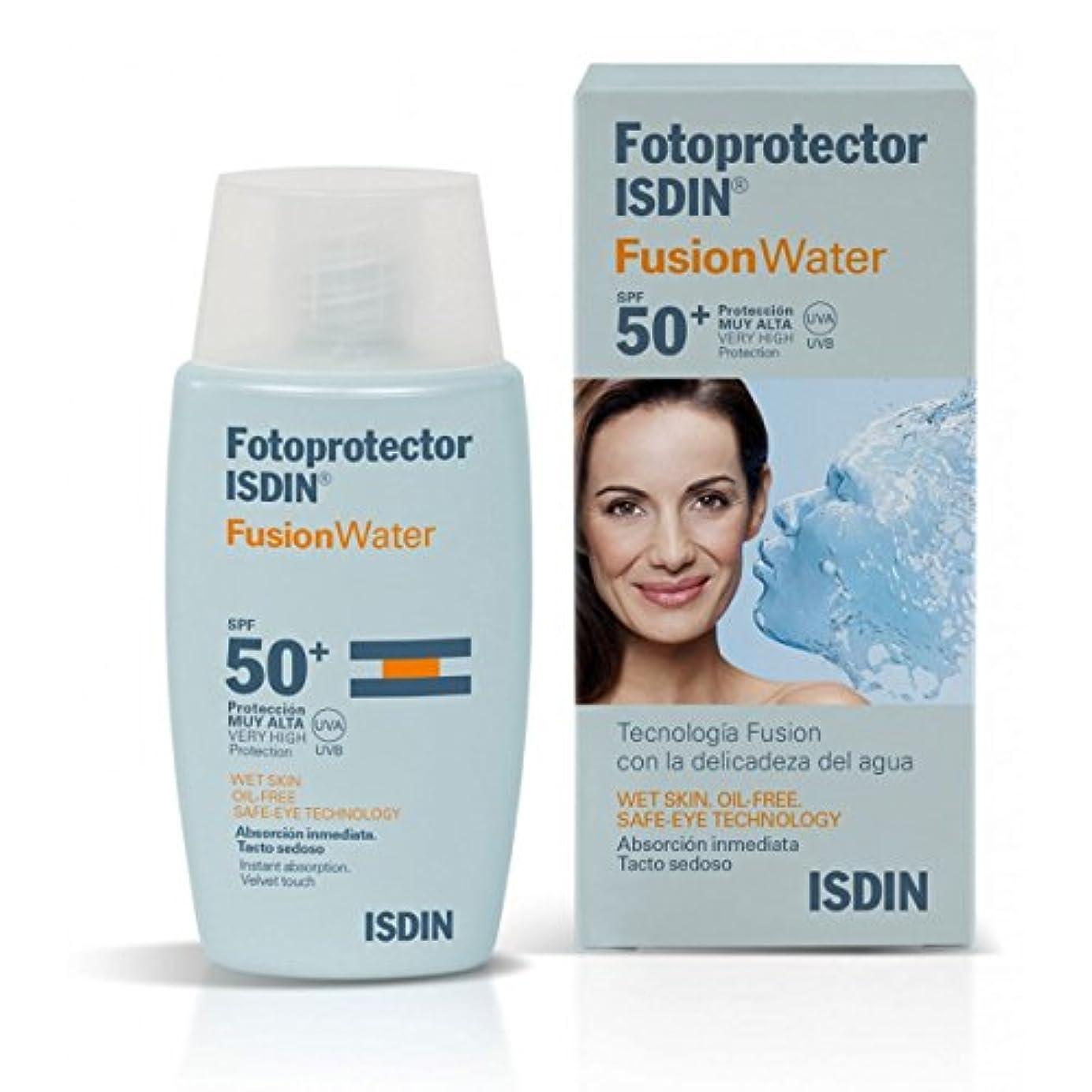 赤面不実減らすIsdin Sunscreen Fusion Water Spf50+ 50ml [並行輸入品]