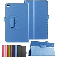 Asng dtab d-02H ケース Huawei MediaPad M2 8.0 カバー 3点セット 保護フィルム タッチペン(ブルー)