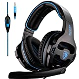 SADES SA810 PS4 Xbox One Headset Over Ear Stereo Gaming Headset Bass Gaming Headphones with Noise Is
