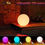 AosKe 25cm LED Floating Pool Balls Waterproof Pool Light Orb Glow Outdoor Color Changing Led Ball Lights Inodoor Decor Party Lighting for Swimming Pool, Patio, Lawn, Hot Tubs, Garden Decoration