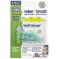 Baby Buddy Green Wipe and Brush with Tooth Tissues by Baby Buddy