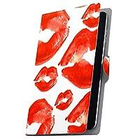 タブレット 手帳型 タブレットケース タブレットカバー カバー レザー ケース 手帳タイプ フリップ ダイアリー 二つ折り 革 唇 模様 006367 Arc 7 rakuten 楽天 Kobo コボ Arc7 arc7-006367-tb