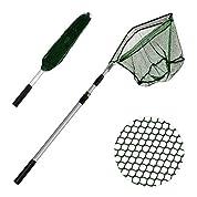 XUNMA タモ網 玉網 すくい網 コンパクト ワンタッチネット 伸縮式 折りたたみ 釣具 タモ釣り 海 魚 フィッシング ツール