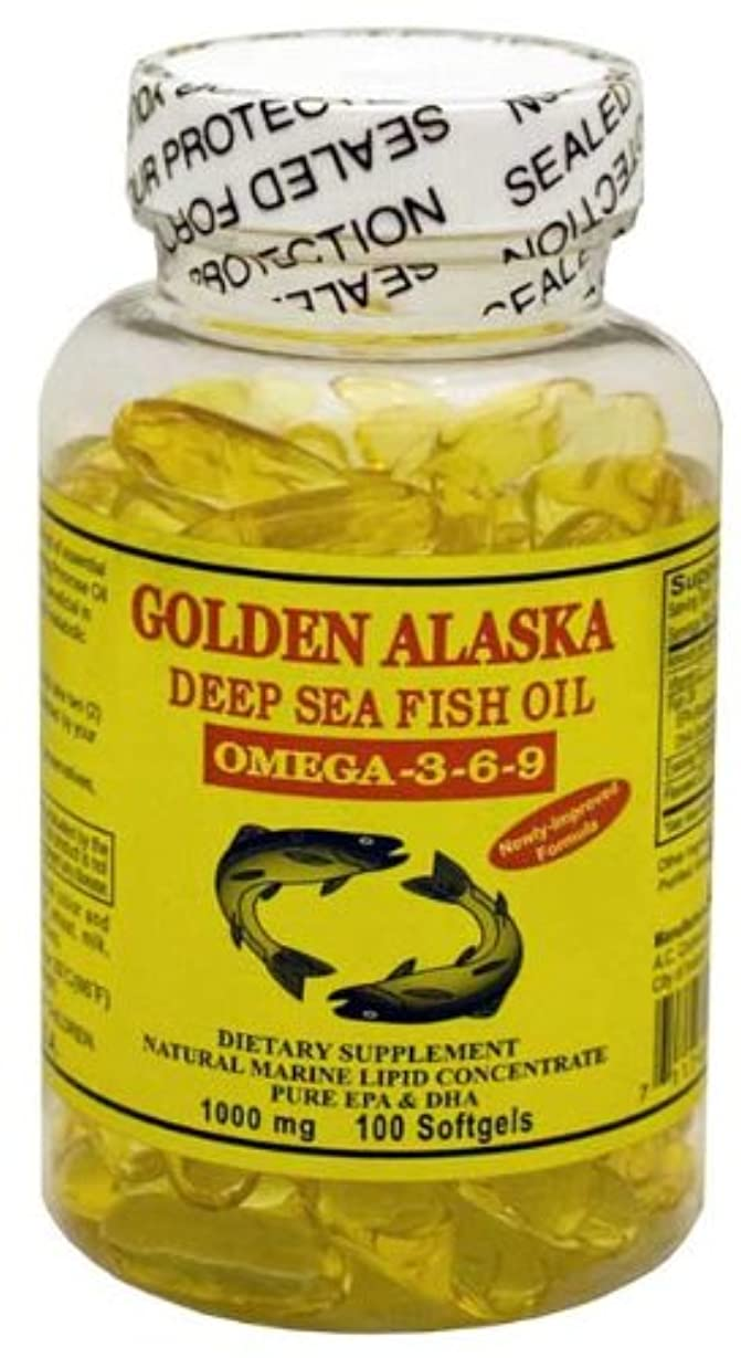捕虜バーゲンスリンクGolden Alaska Deep Sea Omega-3-6-9 Fish Oil 1000mg 100 Softgels by A.C. Commodity Inc