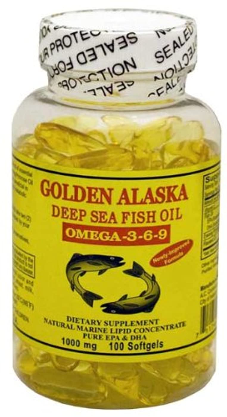 論争的定期的兵士Golden Alaska Deep Sea Omega-3-6-9 Fish Oil 1000mg 100 Softgels by A.C. Commodity Inc