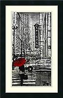アートフレーム印刷' Chicago ' by Loui Jover Size: 17 x 26 (Approx), Matted グレー 3751401