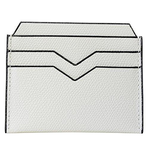 (ヴァレクストラ)VALEXTRA Valextra ヴァレクストラ カードケース クレジット カードホルダー 両面 V8L77 028 OFF WHITE オフホワイト グレインレザー 無地柄 革 メンズ レディース [並行輸入品]