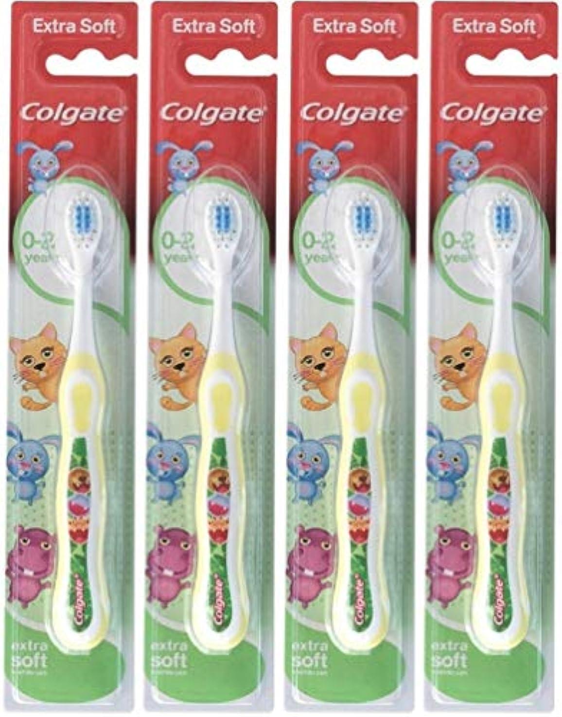 ワイドライナーお祝いColgate 私の最初のソフト、4のパックを歯ブラシ