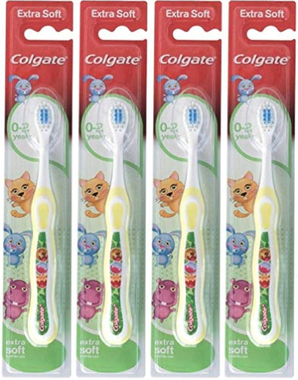 キネマティクス厳しいコンチネンタルColgate 私の最初のソフト、4のパックを歯ブラシ