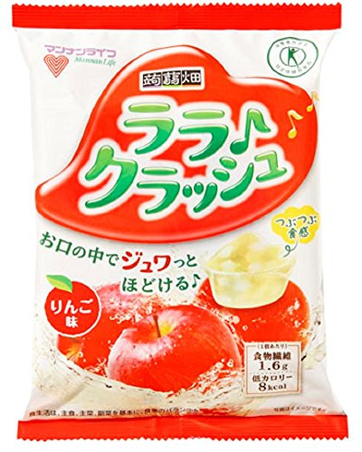 [トクホ]マンナンライフ 蒟蒻畑ララクラッシュりんご味24g*8個×12袋
