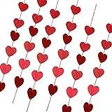 KESOTO 6個 ガーランド ハート バナー ロマンチック装飾 結婚式 バレンタイン 写真小物