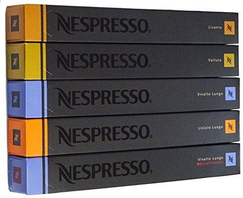 Nespresso ネスプレッソ コーヒー マイルドタイプ 5種類×10カプセル=50カプセル 輸入品