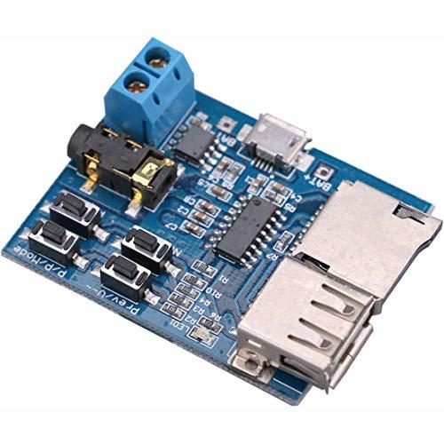 『HiLetgo 2個セット TFカード Uディスク Mp3デコーダ モジュール デコーダボード 無損失デコード 増幅器 [並行輸入品]』の2枚目の画像