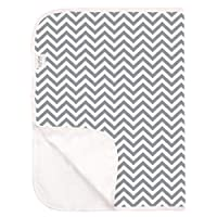 Kushies Deluxe Waterproof Changing Pad Terry, Gray Chevron by Kushies