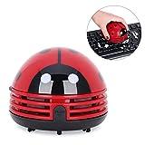 卓上クリーナー テントウ虫型 ハンディクリーナー ミニ乾電池式卓上そうじ機 レッド