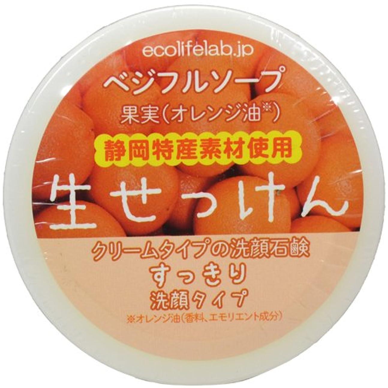 急行する芸術的メンタリティベジフルソープ 生せっけん(果実) すっきり洗顔タイプ 40g