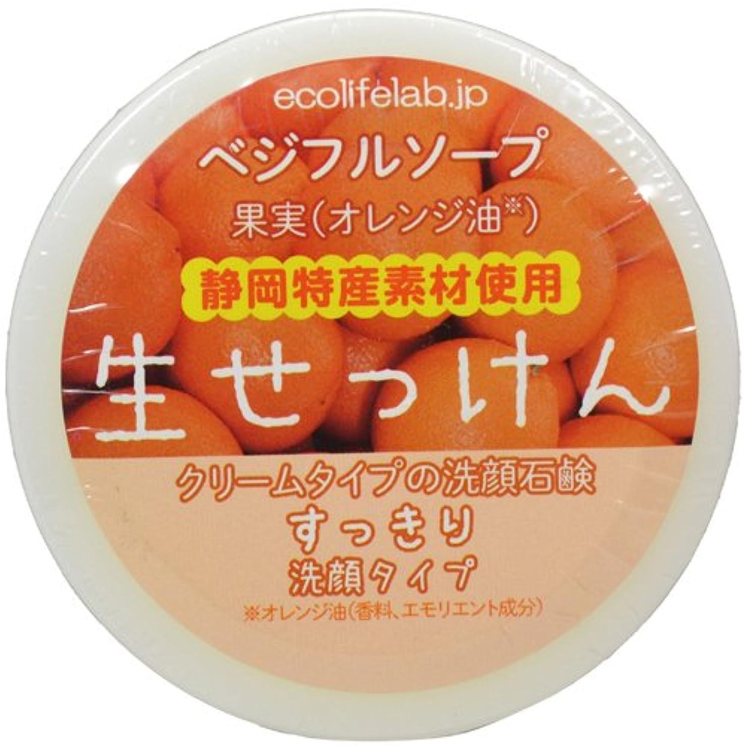意図する原油解放するベジフルソープ 生せっけん(果実) すっきり洗顔タイプ 40g