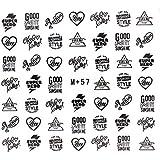 スタンププリントネイルシール 【M+57】ネイルシール ウォーターネイルシール ロゴ スタンプ マーク ネイルアート ジェルネイル