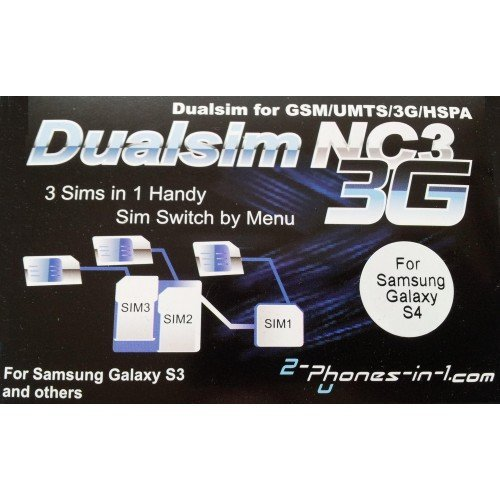 NC3 S4 Triple Sim Adapter for Samsung Galaxy S4 by 2-phones-in-1R [並行輸入品]