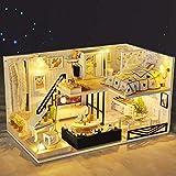 Magic House(マジック ハウス)Shadow Of Time ドールハウス ミニチュア LEDとオルゴール付属 防塵ケース付属 手作りキットセット