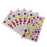 ノーブランド品 12枚セット 日記 ノート 装飾用 ステッカー シール DIY 装飾用 3パタン選べる - 星
