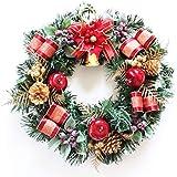 グランドグルー クリスマスリース 造花 直径30cm