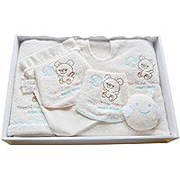 【Tenshi no Tamago】 天使の卵 今治 オーガニックコットン バスウェア セット エンジェルベビー ベビーギフト 出産祝い (ABSET003)